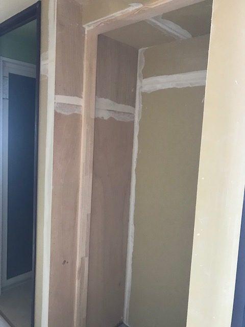 新築分譲マンションの下駄箱扉と棚板納品に付き…