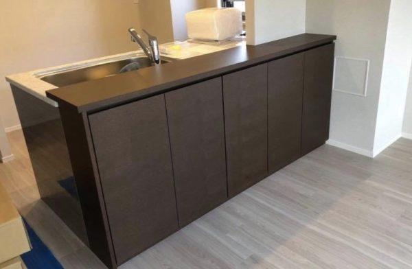 分譲マンションオプション家具製作事例・キッチンカウンター収納