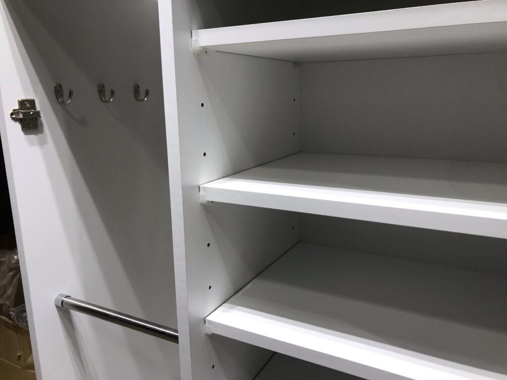 マンション下駄箱可動棚とフック